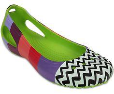 Crocs Women's Kadee MONDO Colorblock Flat | Comfortable Flats | Crocs Official Site