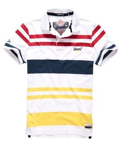 Shop Superdry Mens College Stripe Polo Shirt in Optic/springs Yellow. Buy now with free delivery from the Official Superdry Store. Polo T Shirt Design, Polo Shirt Style, Polo T Shirts, Men's Polos, Superdry Mens, Superdry Style, Mens Fashion Wear, Men's Fashion, Camisa Polo