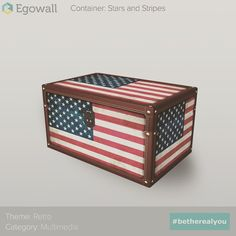 Retro Container: Stars and Stripes  #monday #retro #furniture #storage #container #photo #usa #america #flag #redwhiteblue #starsandstripes #interior #design #interiordesign #decor #interiordecor #3d #object #game #games #gamer #gaming #videogame #videogames #therealyou