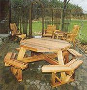 Octagon Picnic Table Plan No.2