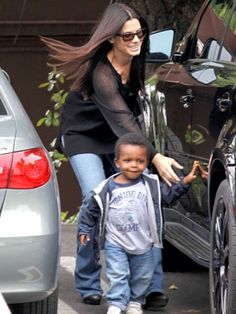 Sandra Bullock and son, Louis by Rose  A