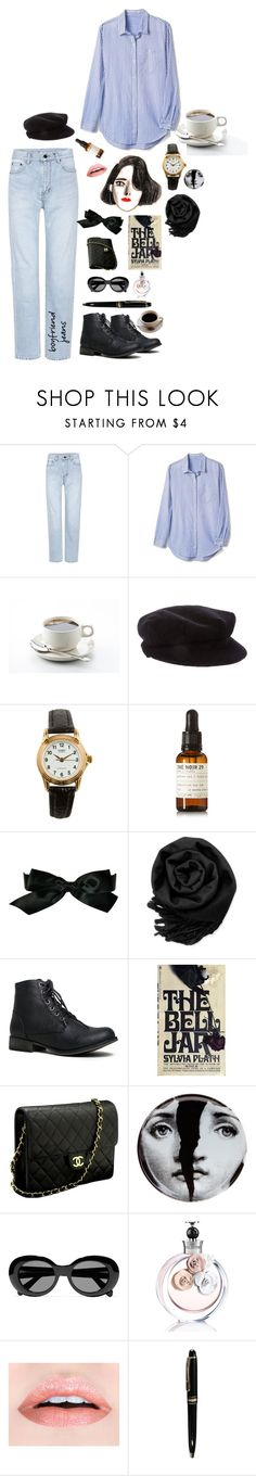 """Early mornings."" by ladyofthelastcentury ❤ liked on Polyvore featuring Yves Saint Laurent, Gap, Burberry, American Apparel, Le Labo, Chanel, Gearonic, Fornasetti, Acne Studios and Valentino"