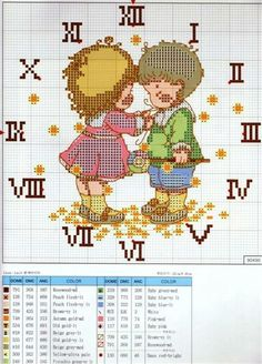 clock cross stitch