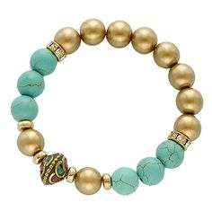 Semiprecious Stone Beads Stretch Bracelet [EOWB0589GDTQ] #fashion #trend #wholesale24x7