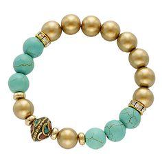 Semiprecious Stone Beads Stretch Bracelet [EOWB0589GDTQ] #fashion #trend #wholesale24x7