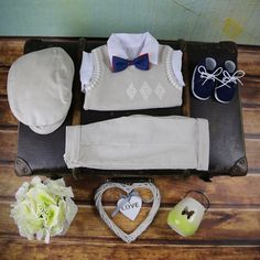 Special Occasion Boys Outfit Light Beige – BabyUniqueCorn