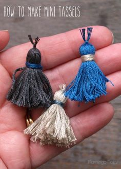 How to Make Mini Tassels - Wouldn't these be cute in Sulky Petites Blendables!