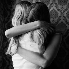 Hug. Friendship. Girls. #photography #BW