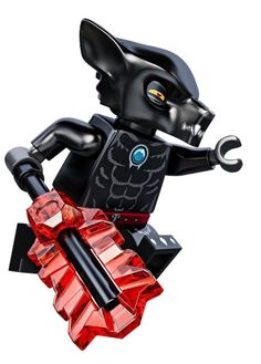 LEGO Wilhurt Wolf Tribe Minifigure with Trans-Red Legends of Chima Blade 70009