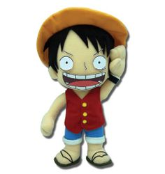 Peluche One Piece. Luffy, 25cm Peluche de 25cm del personaje de Luffy, protagonista principal del manga-anime One Piece.