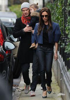 Victoria Beckham David Beckham and Harper Beckham
