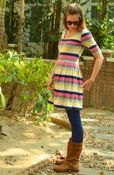 My Penelope Peplum Dress! - crafterhours using the penelope peplum pattern by see kate sew