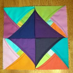Sew Sweetness: Layered Cathedral Window Block another 3D block. so easy to do. try it with some scraps and you'll see what i mean.