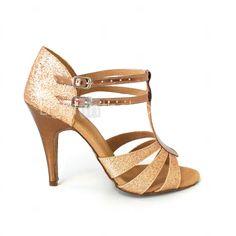 Femme Chaussures Latines   Salon Paillette Brillante   Similicuir Sandale  Boucle Talon Personnalisé Personnalisables Chaussures de danse Argenté    Bleu ... eff57f9e7ed1