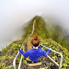 Stairway to heaven  Haiku Trail Hike - Hawaii. Picture by @Aklukuk by wonderful_places