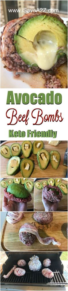 Keto Friendly Avocado Beef Bombs Recipe - it doesn't get much more delicious than avocado, beef and melted cheese! This low carb recipe tastes delicious.