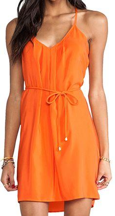 #orange button back dress http://rstyle.me/n/humtzpdpe