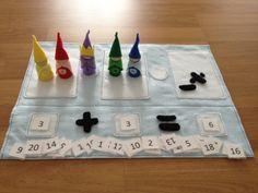 De gnomen van de wiskunde vroege Math Play Set Welkom bij de magische Koninkrijk van wiskunde! Stel je een jeugd waar wiskunde tot leven door