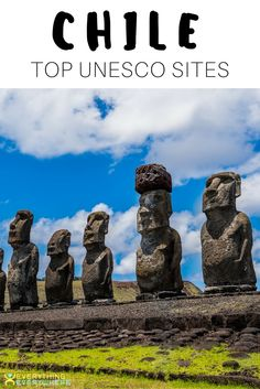 A list of the six UNESCO World Heritage sites located in Chile, from Rapa NuiNational Park on Easter Island to the Churches of Chloe. Bucket list travel in Chile, South America. | Everything Everywhere Destination Guide #Chile #UNESCO