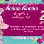 invitaciones Angelina Ballerina 3