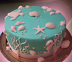 Risultati immagini per torta in pasta di zucchero tema marino tutorial