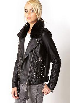 Rebel-Girl Moto Jacket   FOREVER21 - 2040496486