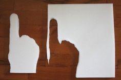 Foam Finger Preschool Craft for a sport's storytime