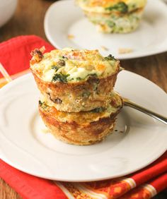 Quinoa and Broccoli Frittatas