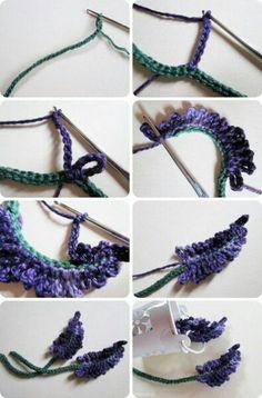 Watch The Video Splendid Crochet a Puff Flower Ideas. Phenomenal Crochet a Puff Flower Ideas. Crochet Puff Flower, Crochet Flower Tutorial, Crochet Leaves, Crochet Motifs, Knitted Flowers, Crochet Instructions, Crochet Flower Patterns, Freeform Crochet, Thread Crochet