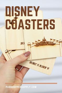 These Disney World coasters are perfect for the Disney Fan. They are engraved wooden coasters with a water-resistant finish. They come in a set of four and are wrapped with twine, which makes them perfect for gifting. These include 2 entry gate coasters and 2 Disneyland coordinates coasters. Disney Clothes, Disney Outfits, Disney Fun, Disney Magic, Disney Home Decor, Wooden Coasters, Magic Kingdom, Twine, Touring
