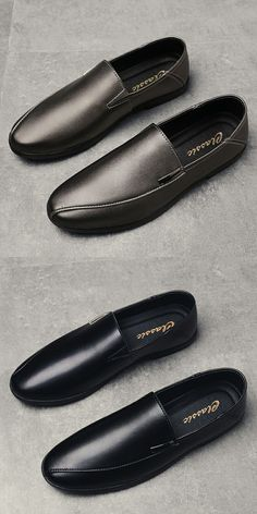 US $28.6 <Click to buy> Prelesty Handmade Leather Shoes Men Casual Genuine Leather Loafers Slip On