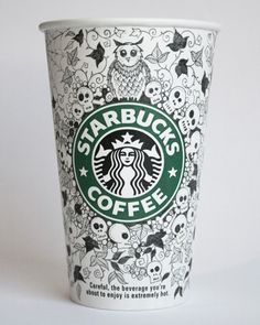 Creative Starbucks Cup Sketches by Johanna Basford