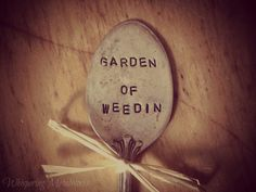 Garden marker pick silver plated spoon  by WhisperingMetalworks, $5.00
