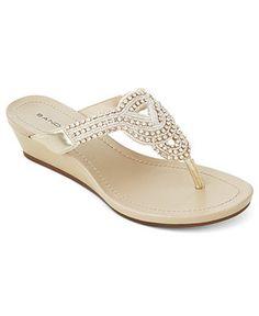 $59.00 Bandolino Shoes, Bayard Wedge Sandals - Espadrilles & Wedges - Shoes - Macy's