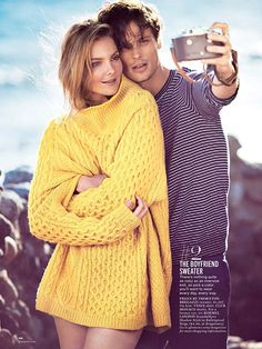Models: Eniko Mihalik and Matthew Gray Gubler Photographer: Matthew Brookes Stylist: Laura Ferrara Glamour.June.2014.05