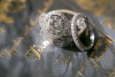 A Chanel inspired wedding at the Vibiana in Los Angeles exudes iconic and chic elegance with an understated dramatic flare and flawless details. Wedding Engagement, Wedding Rings, Engagement Rings, Foil Stamped Wedding Invitations, Luxury Wedding, Jewelry Box, Flare, Wedding Inspiration, Sparkle
