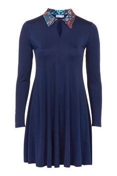 **Contrast Collar Dress by Love