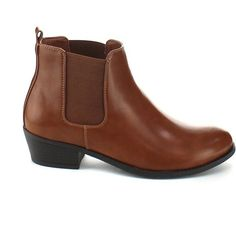 Refresh Womens Tildon-02 Almond Toe Simple Flat Heel Ankle Booties (57.900 COP) ❤ liked on Polyvore featuring shoes, almond toe flats, flat heel shoes, tildon, flat shoes and flat pumps