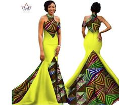 Image of Mermaid African Dresses New Arrival Sleeveless Floor Length Women Formal Occasion Dress Africa Evening Gowns for African Fashion Designers, African Fashion Dresses, African Outfits, Ankara Gowns, Ankara Dress, African Wear, African Dress, African Style, African Blouses