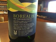 Borealis | The Borealis is a white blend made with 39% Gewurtztraminer, 37% Muller-Thurgau, 19% Riesling, and 5% Pinot Gris.