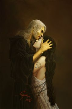 """Were I as other men, she would be mine."" (Dragonlance, War of the Twins, Raistlin and Crysania)"
