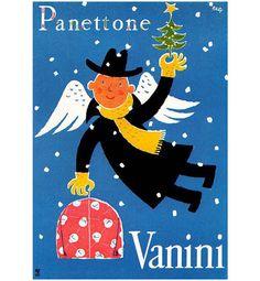 Manifesto pubblicitario panettone Vanini, Franco Barberis - advertisement poster