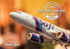 Our Safi Airways Facebook family has reached over 50,000 members. On this happy occasion, we will be giving away a free* return ticket to any Safi Airways destination through a Facebook-only contest. Please stay tuned! www.facebook.com/oursafiairways