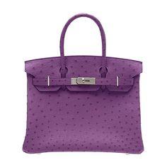 OK this Hermes Birkin Amethyste Ostrich Bag is fabulous!  I need one!