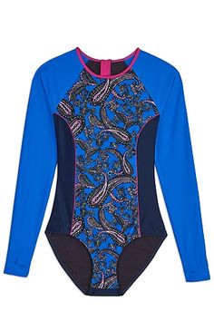 You'll love this long sleeved swimsuit with built in sun protection!