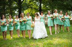 wedding vintage green   Wedding Wednesday: Green Bridesmaids Gowns - Paperblog