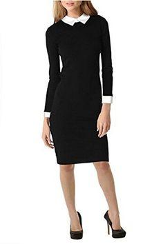 Vililye Women's Classic Long Sleeve High Waist Pencil Knee Dresses Black (Small, Black) Vililye® http://www.amazon.co.uk/dp/B00O10UA1Y/ref=cm_sw_r_pi_dp_rpglvb11B5WE4