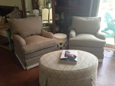 BEAUTIFUL club chairs that swivel!! Just in at Peridot West!
