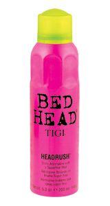 SPRAY:  TIGI Bed Head, Headrush Shine Adrenaline.  All hair types - especially fine/thin to normal.  Light aerosol glossing mist.