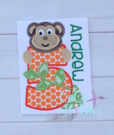Monkeys Number Set 1-9  Applique Design - pinned by pin4etsy.com
